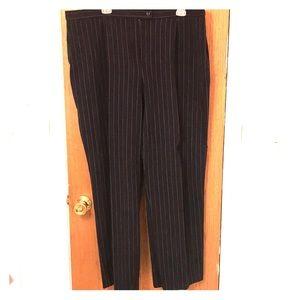 Plus Size Women's Navy Pinstriped Pants